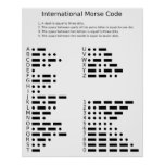 Chart of the Morse Code Letters and Numerals Poster
