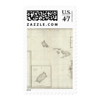 Chart of the Sandwich Islands Postage Stamp