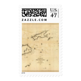 Chart of the Viti Group or Fiji Islands Postage