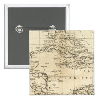 Chart of the West Indies 2 Pinback Button