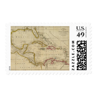 Chart of the West Indies 3 Postage Stamp