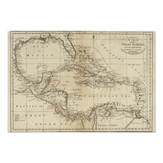 Chart of the West Indies 3 Poster