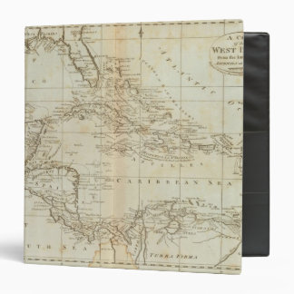 Chart of the West Indies 3 Ring Binder