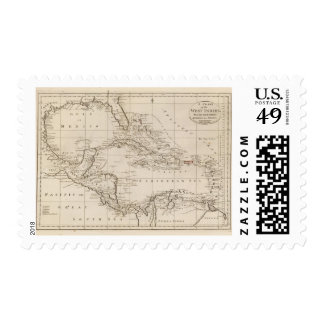 Chart of the West Indies Postage
