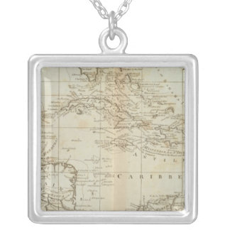 Chart of the West Indies Silver Plated Necklace