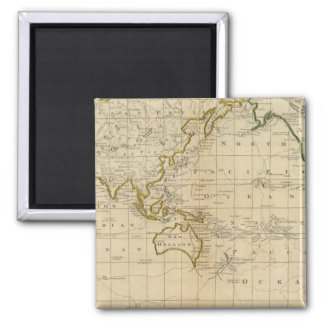 Chart of the World 2 Inch Square Magnet