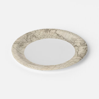 Chart of the World 7 Inch Paper Plate