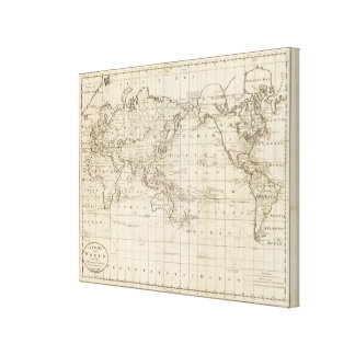 Chart of the World Canvas Print