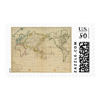 Chart of the World Postage