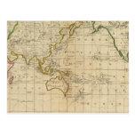 Chart of the World Postcard