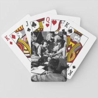 Chart room on board USS LEXINGTON as ship_War Imag Poker Cards