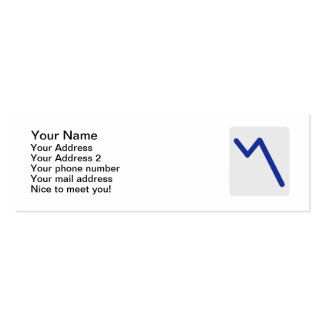 Chart statistics icon Double-Sided mini business cards (Pack of 20)