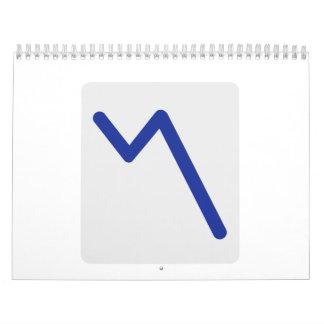 Chart statistics icon calendars