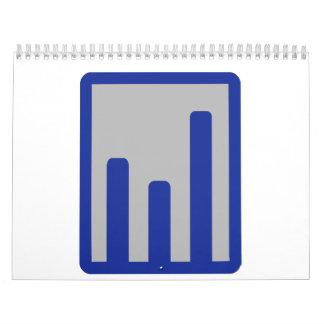 Chart statistics icon wall calendars