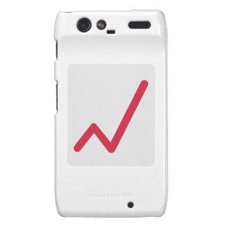 Chart statistics icon motorola droid RAZR case