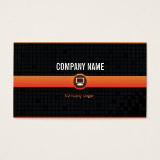 Chart visits - Professional orange data processing Business Card