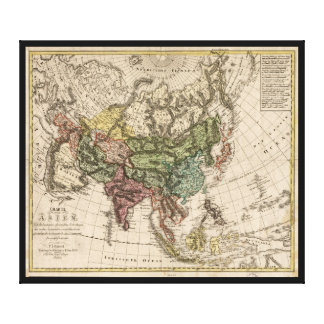 Charte van Asien (Map of Asia) 1805 Canvas Print