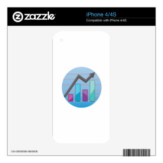 Charted Graph iPhone 4S Skin
