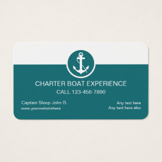 Charter Boat Business Cards