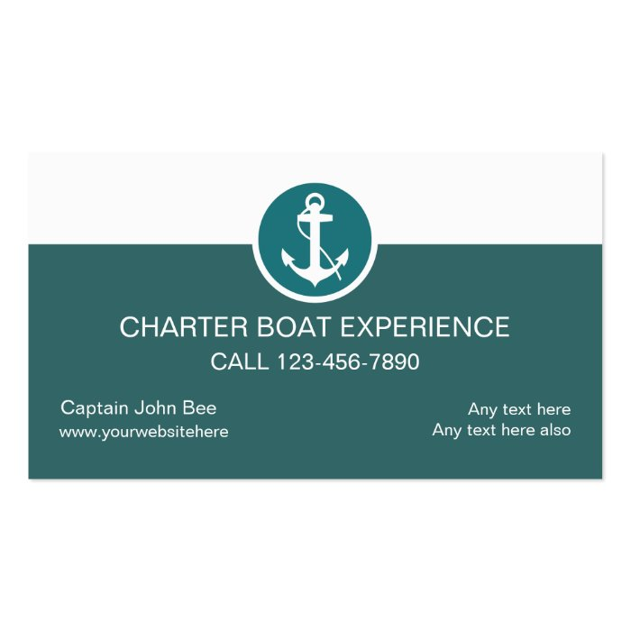 Charter boat business cards zazzle for Boat business cards