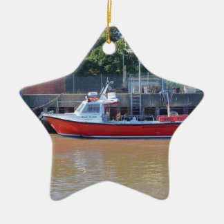Charter Boat High Flyer Ceramic Ornament