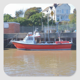 Charter Boat High Flyer Square Sticker