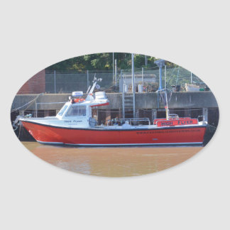 Charter Boat High Flyer Oval Sticker