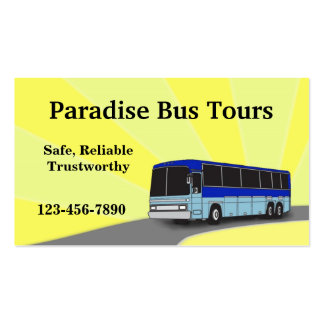 Charter Bus Business Card