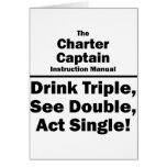 charter captain stationery note card
