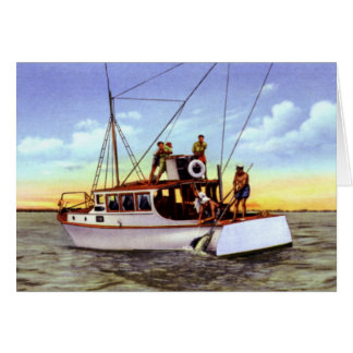 Charter Fishing at Fort Pierce Florida 1930 Card