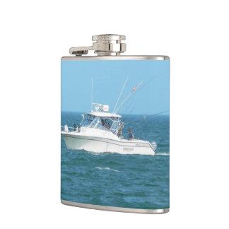 Charter Fishing Boat Hip Flask