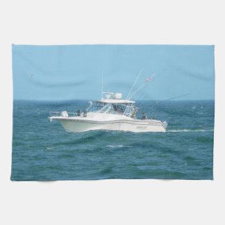 Charter Fishing Boat Hand Towel