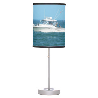 Charter Fishing Boat Table Lamp