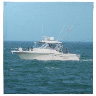 Charter Fishing Boat Napkin