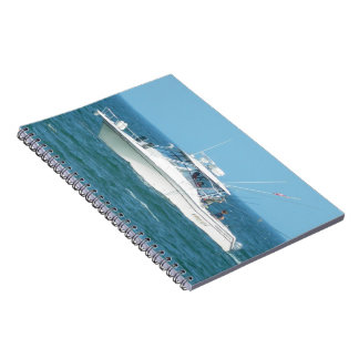 Charter Fishing Boat Spiral Note Book