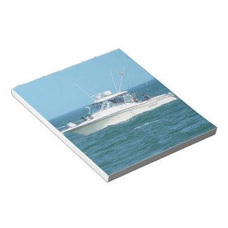 Charter Fishing Boat Memo Note Pad