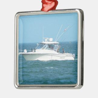 Charter Fishing Boat Christmas Tree Ornaments