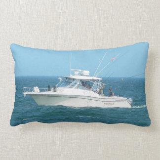 Charter Fishing Boat Throw Pillow