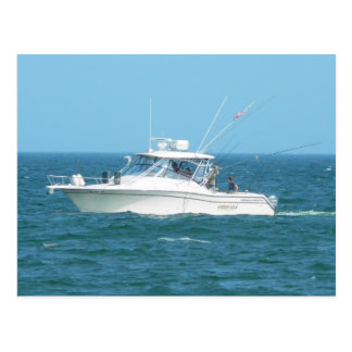 Charter Fishing Boat Postcard