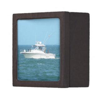 Charter Fishing Boat Premium Trinket Box