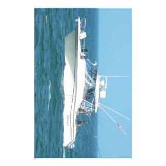 Charter Fishing Boat Customized Stationery