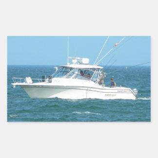 Charter Fishing Boat Rectangular Sticker