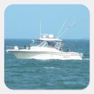 Charter Fishing Boat Square Sticker
