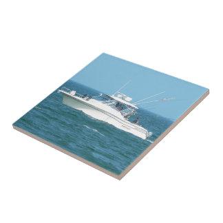 Charter Fishing Boat Ceramic Tiles