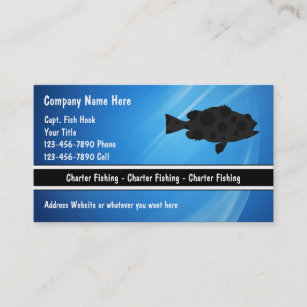 Charter fishing business cards templates zazzle charter fishing business cards colourmoves