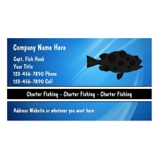 Charter fishing business cards zazzle for Fishing business cards