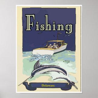 Charter fishing Delaware Poster