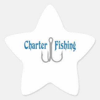 Charter Fishing Star Sticker