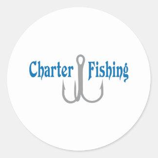 Charter Fishing Classic Round Sticker