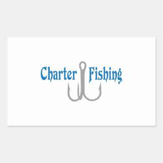 Charter Fishing Rectangular Sticker